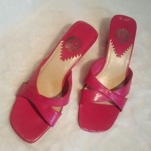 DJ ♡ Berkley ♡ Bright Pink Open Toe Heels 5.5M